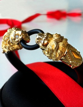 Le Cock Ring I Royale edition - solid gold cock ring with rubies