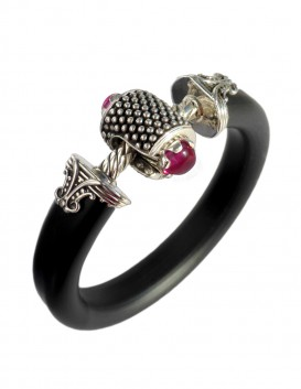 JockRing OMEN - Shiraz Red penis jewel with gemstones