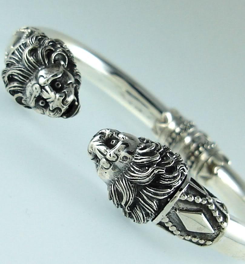 Lion torc bracelet by esculpta