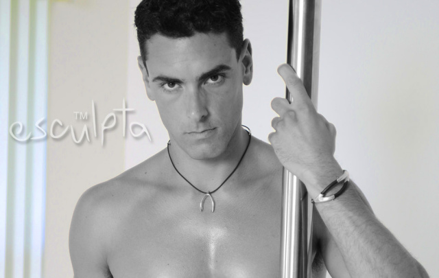 Jeremy Bilding adult film star wearing esculpta jewelry