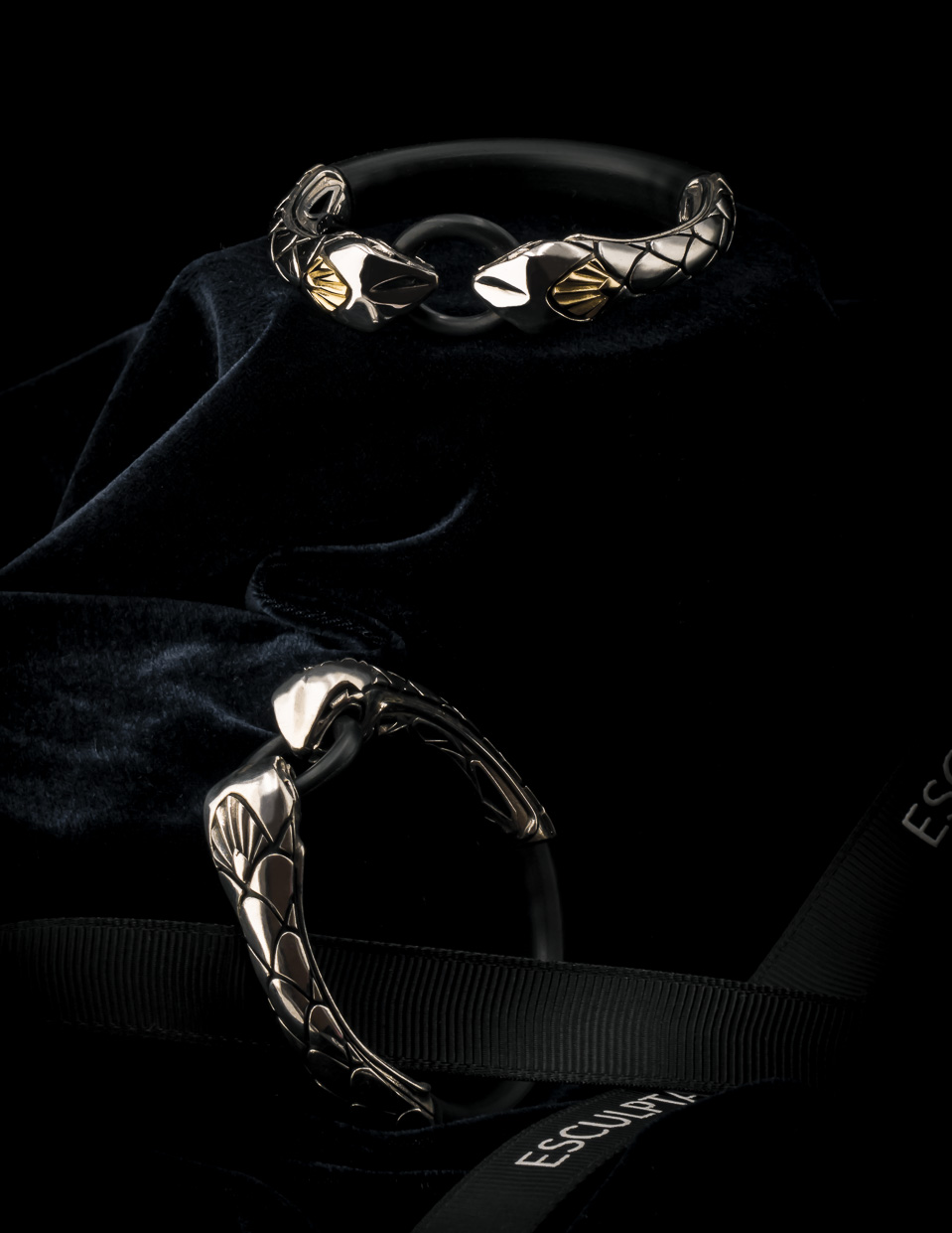BOA glorious serpent bracelet from silver made by esculpta