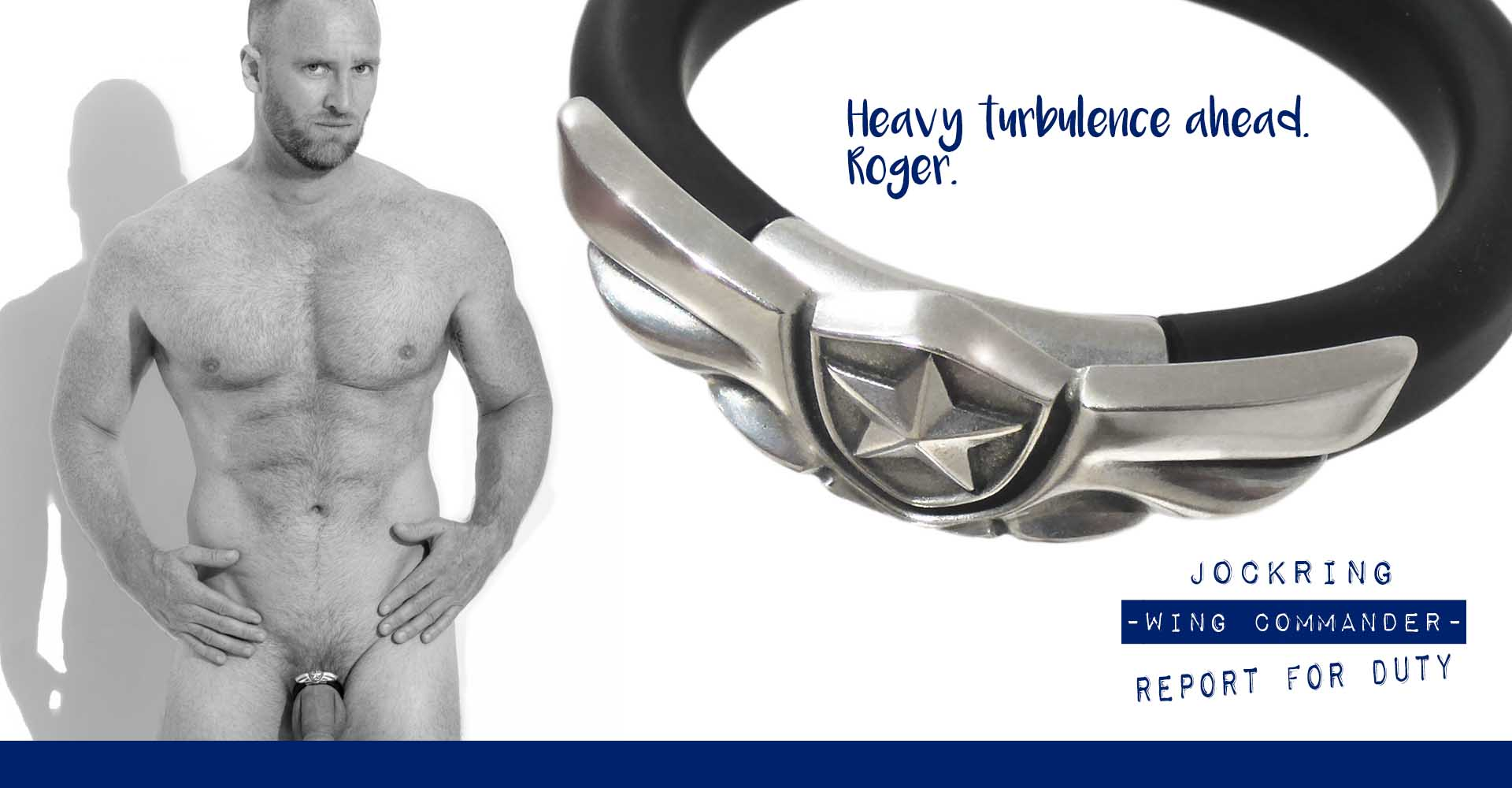 JockRing Wing commander. The ultimate straight or Gay male boyfriend gift