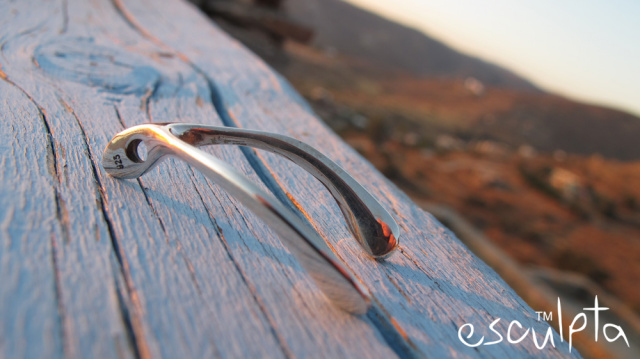 Wishbone pendant by esculpta men's jewelry